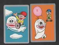 Swap Playing Cards 2 1960's Japanese Nintendo Boy & Ghost Anime A99
