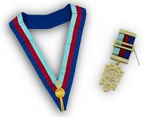 More details for freemasons royal arch tri-colour collarette and breast jewel masonic regalia set