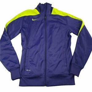 Nike Womens Active Jacket Womens Size Medium Dri FIT Basketball Warm Up Purple