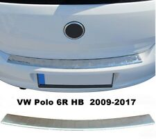 VW Polo 6R HB 2009-2017 Chrome Rear Bumper Protector Scratch Guard S.Steel