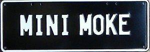 Austin Mini MOKE Number Plates Licence Vanity Sign license plate