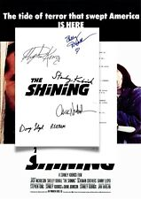 The Shining Script/Screenplay With Movie Poster And Autographs Signed Print