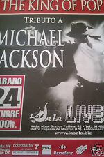 Michael Jackson promo Tribute poster forever king Pop no CD DVD LP 7 thriller it