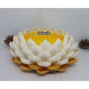Lotus Clay Buddha Stand Pedestal Artificial Thai Plant  Arrangement in Offering