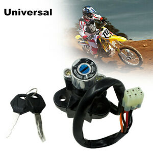 Universal Motorcycle Dirt Bikes Modified Lgnition Switch with Keys Lock Set Kit