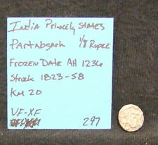 India Princely States 1823-58 Silver Coin Partabgarh 1/8 Rupee Km 20 Vf-Ef 1236