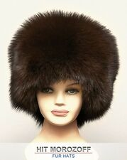 Saga FOX Fur Winter Hat Russian Zhivago Schapka Pelzmütze Fellmütze Damen Fuchs