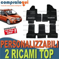 per FIAT MULTIPLA TAPPETINI per AUTO SU MISURA MOQUETTE e GOMMA + 2 RICAMI TOP