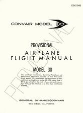 CONVAIR MODEL 30 ( 990 ) PROVISIONAL AIRPLANE FLIGHT MANUAL & OPERATION MANUAL