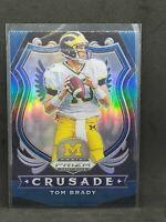 Tom Brady 2020 Panini Prizm DraftPicks Football Blue+Silver Crusade Prizm #100