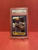 1986 Fleer Update Barry Bonds Pittsburgh Pirates #14 Baseball Card