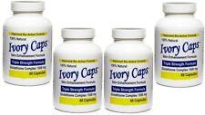 4 X Ivory Caps Natural Skin Whitening Lightening Support 1500mg Pills - 60 Caps