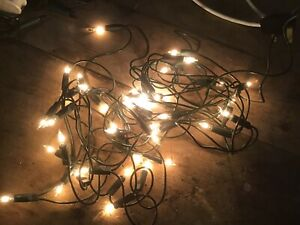 Vintage Christmas String Lights Working In Clear Bulbs