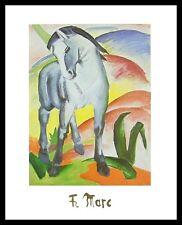 Franz Marc Blaues Pferd I Poster Bild Kunstdruck im Alu Rahmen schwarz 30x24cm