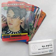 EXO Power Of Music Album Transparent 25 Photocards The war Lenticular Photocard