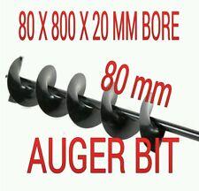 80MM AUGER BIT POST HOLE DIGGER BITS 80 X 800 X 20MM