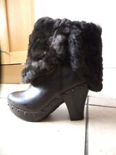 FRYE USA brown shearing sheepskin boots US7 UK5 £650 worn once