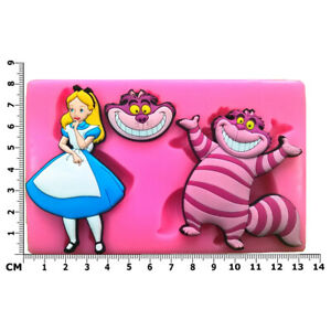 Alice in Wonderland & Cheshire Cat Silicone Mould by Fairie Blessings
