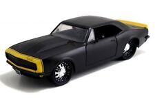 JADA 1:24 DISPLAY BIG TIME MUSCLE 1967 CHEVROLET CAMARO Diecast Car BLACK 97171