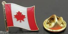 Canada Canadian Country Flag Lapel Tie Cap or Hat Pin Badge Brooch T1