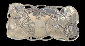 Arthur Court Silver Magnolia Bread Tray ~ Flowers & Dragonfly ~ NIB
