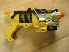 Power Rangers Deluxe Dino Super Charge Morpher Yellow Blaster Gun NO CHARGERS