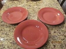 Set of 3 Pottery Barn Sausalito Dinner Plates Chargers Merlot Red