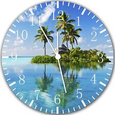 "Palm Tree Island Beach wall Clock 10"" will be nice Gift and Room wall Decor Y10"