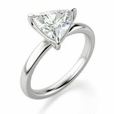 2ct Round Solitaire Engagement .925 Sterling Silver Ring