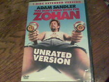 You Don't Mess With The Zohan (DVD, 2008, Unrated Single Disc Version) new