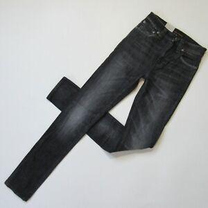 NWT Nudie Jeans Co High Kai in Organic Ogatan Gray Stretch Slim Skinny Jeans 25