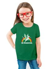 St. Patrick's Day Magical Rainbow Unicorn Toddler/Kids Girls' Fitted T-Shirt