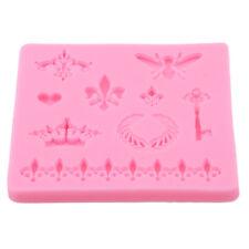 Crown Fleur De Lis Heart Butterfly Collection Fondant Cupcake Mould Decor Tool D