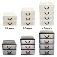 Plastic Drawer Small Tower Storage Unit Office Cosmetic School Home Organise