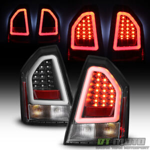 Black 2005-2007 Chrysler 300C SRT Lumileds LED Pyro Tube Tail Lights Brake Lamps