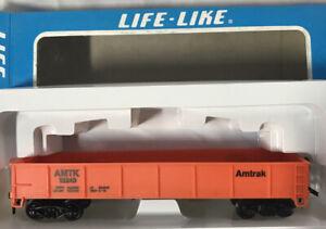 Life-Like HO Scale ~ AMTRAK Gondola AMTK 13240 (Orange) #08500 ~ NEW IN BOX