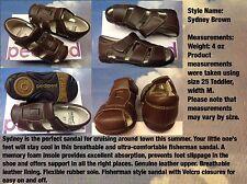Pediped Flex Sydney V Leather Fisherman Sandal Size 24-33 /US Toddler 8 to Kid 2