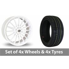 "4 x 15"" Team Dynamics Jet White Alloy Wheel Rims and Tyres -  195/50/15"
