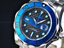New Invicta Men's 47mm Police Grand Diver Automatic Carbon Fiber Dial 300m Watch
