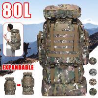80L Groß Außen Tarnfarbe Rucksack Militär Rucksack Taktische Rucksack Neu