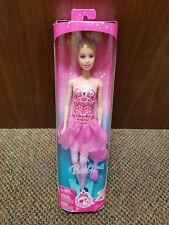 2008 Mattel Ballerina Barbie Fantasy Series Doll Pink Tutu Tiara Hairbrush NEW