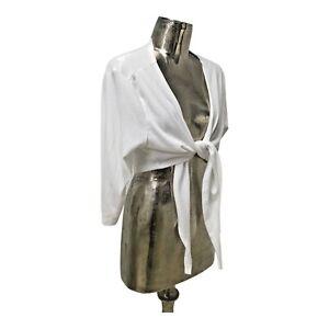 Poppy NEW Ladies/Womens White Cotton Cardigan Top UK Size 18 (EU 46) RRP £30