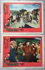 TEMPETE SUR LE TEXAS Gun Belt GEORGE MONTGOMERY Western TAB HUNTER 2 Lobby Card*