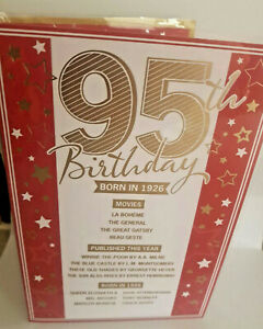 95TH  BIRTHDAY CARD  BORN IN 1926 EVENTS CARD UNIQUE TO THE YEAR YOU WERE BORN