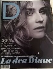 DIANE KRUGER D REPUBBLICA ONLY ONE DAY MAGAZINE ITALY SEPTEMBER 2015 RARE