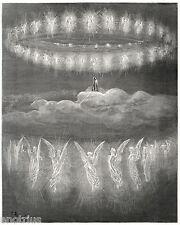 PARADISO:Cielo Spiriti Sapienti:CORONE ANGELICHE.Doré.Dante.Divina Commedia.1880