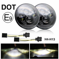 "DOT E Approved 7"" inch LED headlights x2  for Land Rover Defender RHD 7"" 90 110"
