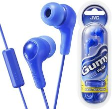 JVC HA-FX7M-A BLUE Gumy In-ear headphones with remote & microphone /Brand New