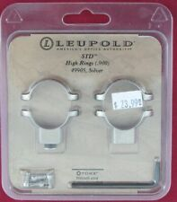 "Leupold Std High Silver scope rings 1"" 49905 New Free Shipping"