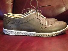 J Shoes Calypso mens brown casual wing tip style shoe size US 10 Nice!!